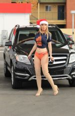 ANA BRAGA at a Gas Station in Los Angeles 12/23/2018