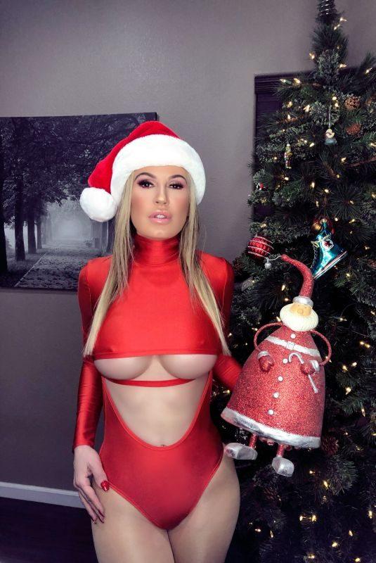 ANA BRAGA in Santa Outfit in Las Vegas 12/17/2018