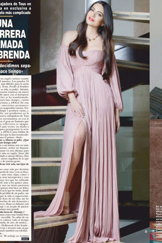 ANA BRENDA CONTRERAS in Hola Magazine, December 2018