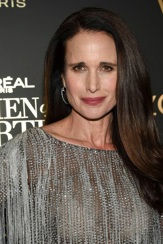 ANDIE MACDOWELL at L'Oreal Paris Women of Worth Celebration in New York 12/05/2018