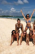 ANDREA BOWEN in Bikini at a Beach in Playa Del Carmen 11/30/2018
