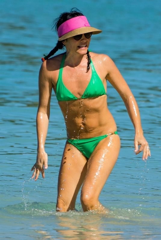ANDREA CORR in Bikini at a Beach in Barbados 12/24/2018