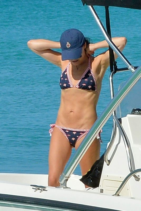 ANDREA CORR in Bikini at a Boat in Barbados 12/20/2018