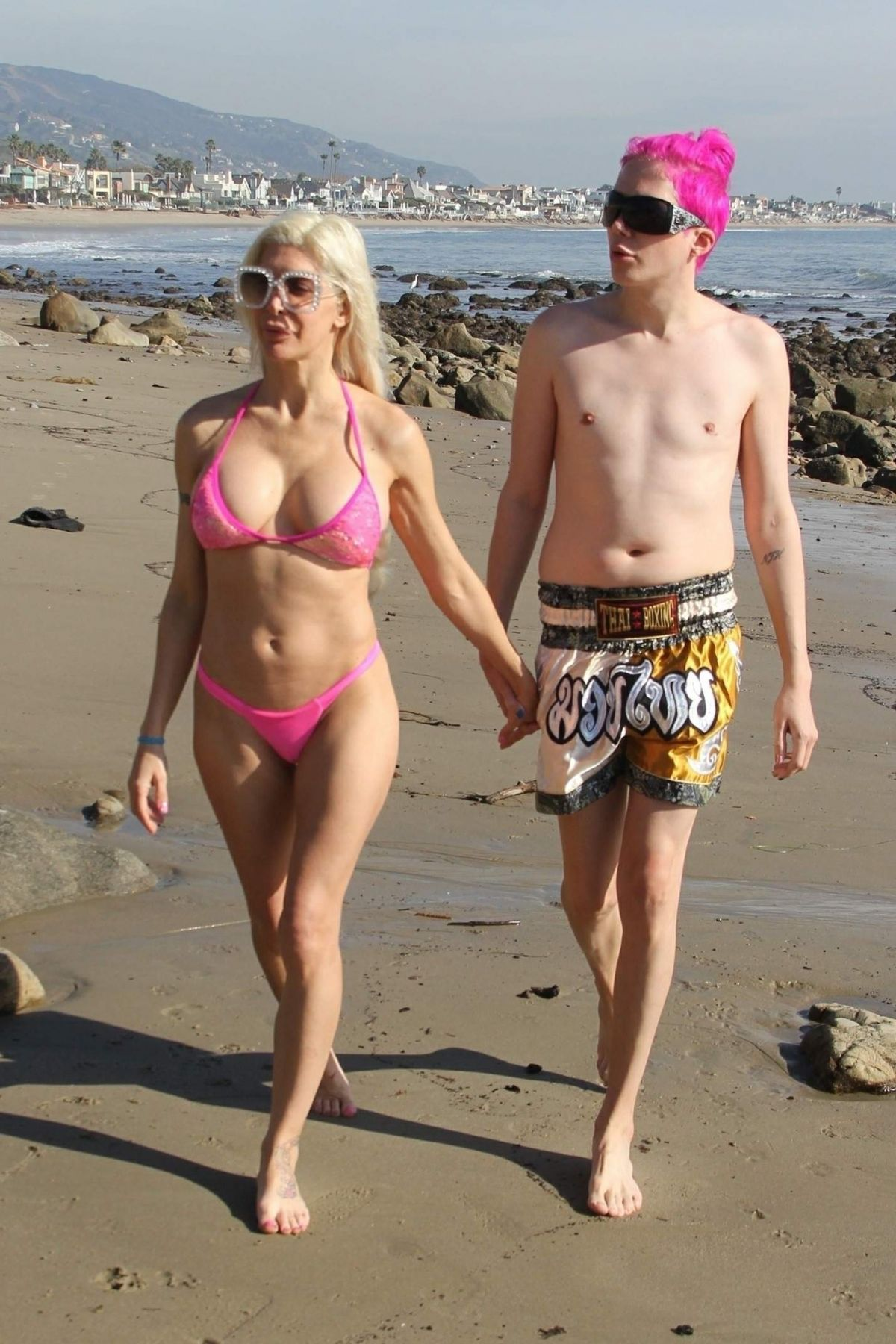 c31d75aff1 ANGELIQUE FRENCHY MORGAN in Bikini on the Beach in Malibu 12 23 2018 ...