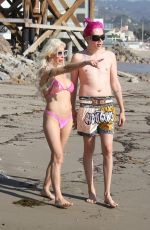 ANGELIQUE FRENCHY MORGAN in Bikini on the Beach in Malibu 12/23/2018
