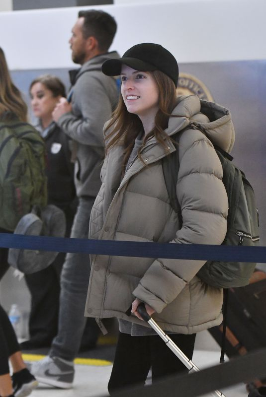 ANNA KENDRICK at Los Angeles International Airport 12/28/2018