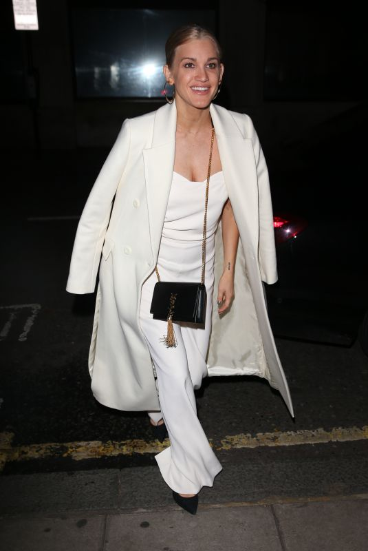 ASHLEY ROBERTS Arrives at Chris Evans Breakfast Show in London 12/13/2018