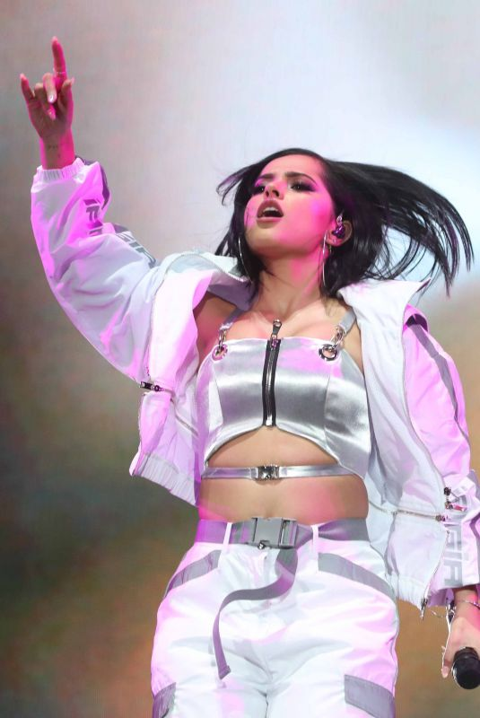 BECKY G Performs at Coca-cola Flow Fest Concert at Foro Sol in Mexico City 12/08/2018