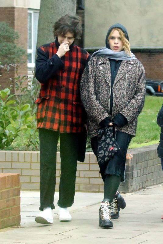 BILLIE PIPER and Johnny Lloyd Out in London 12/27/2018