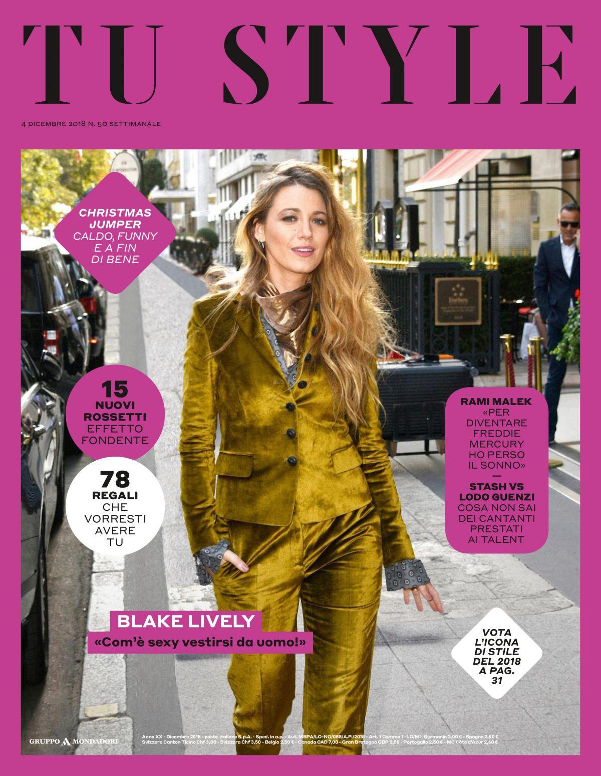 BLAKE LIVELY in Tu Style Magazine, December 2018 – HawtCelebs