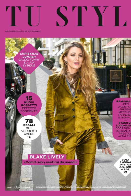 BLAKE LIVELY in Tu Style Magazine, December 2018