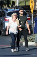 BRITNEY SPEARS and Sam Asghari Out in Calabasas 12/08/2018