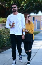 BRITTANY SNOW and Tyler Stanaland Out for Coffee in Los Angeles 12/21/2018