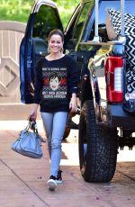 BROOKE BURKE Arrives to Her Workout Class in Malibu 12/14/2018