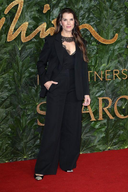 BROOKE SHIELDS at British Fashion Awards in London 12/10/2018