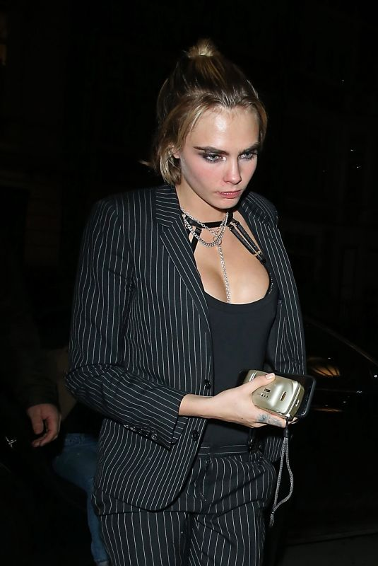 CARA DELEVINGNE Arrives at Chiltern Firehouse in London 12/19/2018