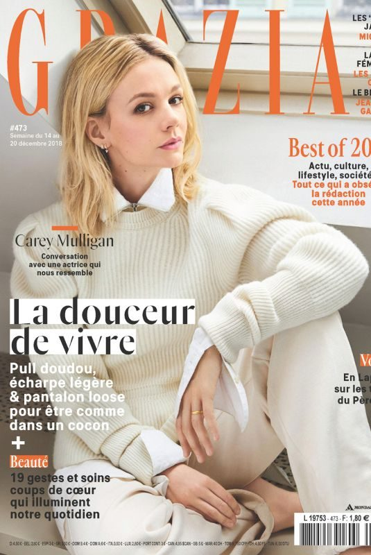 CAREY MULLIGAN in Grazia Magazine, France December 2018