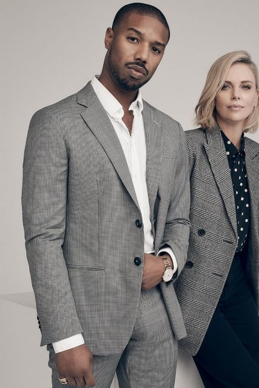 CHARLIZE THERON and Michael B. Jordan for Variety Magazine, December 2018