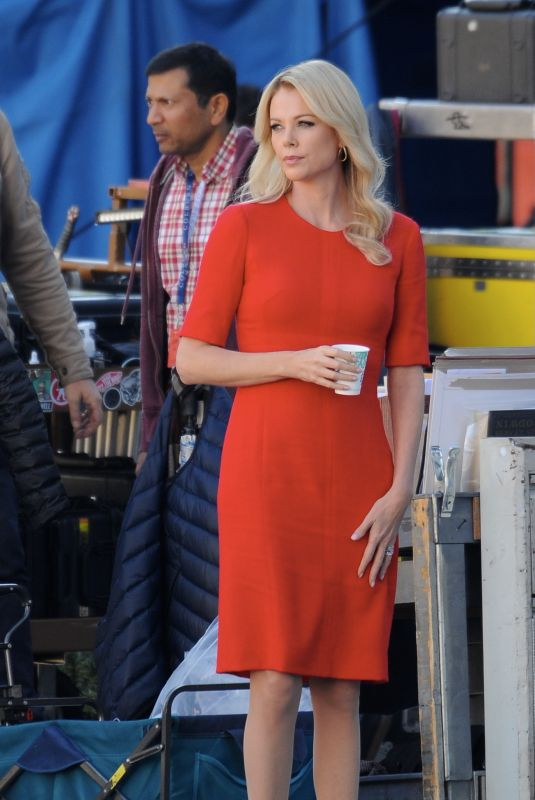 CHARLIZE THERON on the Set of Fair and Balanced in Los Angeles 12/09/2018