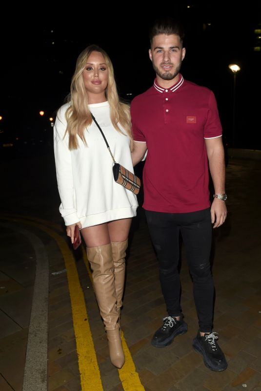CHARLOTTE CROSBY and Josh Ritchie at Menagerie Bar in Manchester 12/26/2018