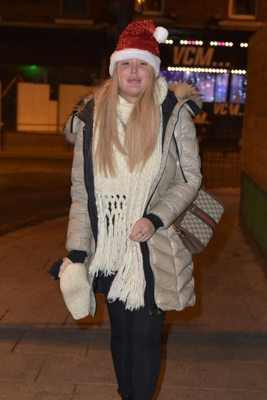 CHARLOTTE CROSBY at Heathrow Airport 12/24/2018
