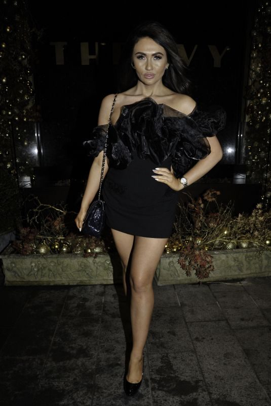 CHARLOTTE DAWSON Night Out at Ivy in Manchester 12/16/2018