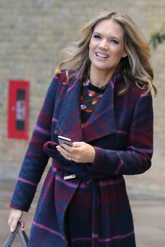 CHARLOTTE HAWKINS Leaves ITV Studio in London 12/12/2018
