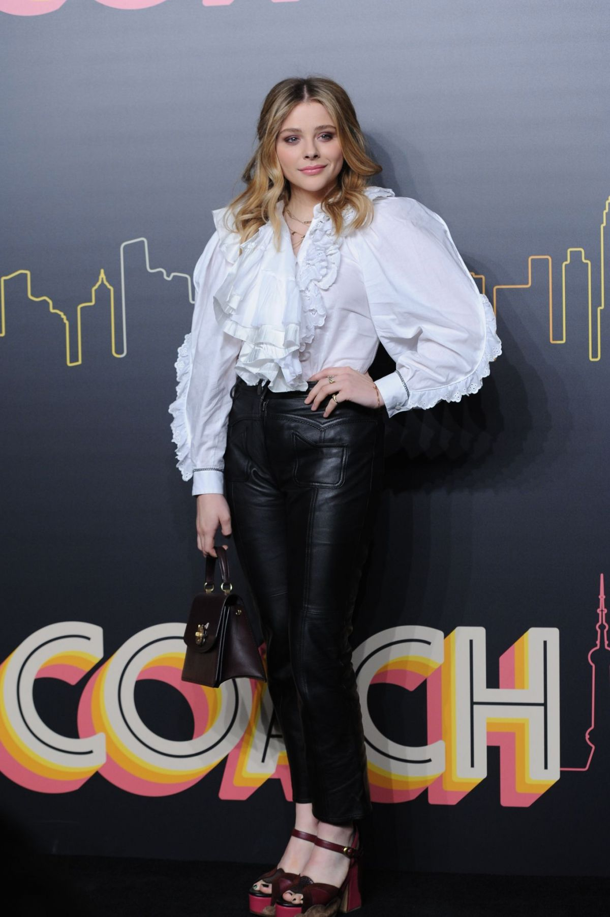 Chloe Moretz attends the Coach Womens Spring 2016 Fashion