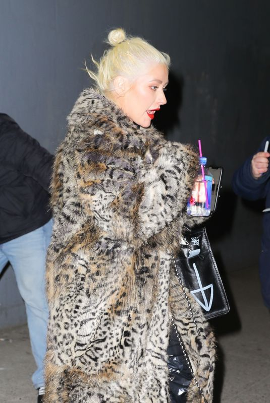 CHRISTINA AGUILERA Leaves New Year Eve Rehearsal in New York 12/30/2018