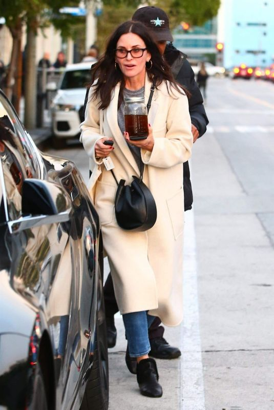 COURTENEY COX Out Shopping in West Hollywood 12/26/2018
