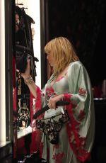 COURTNEY LOVE Shopping in Soho in New York 12/14/2018