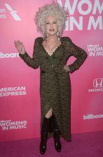 CUNDI LAUPER at Billboard Women in Music 2018 in New York 12/06/2018