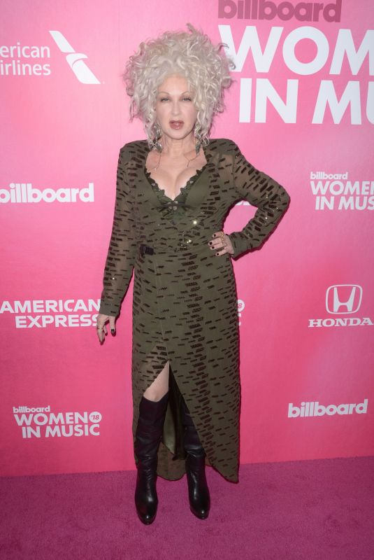 CUNDI LAUPER at Billboard Women in Music 2018 in New York 12/06/2018