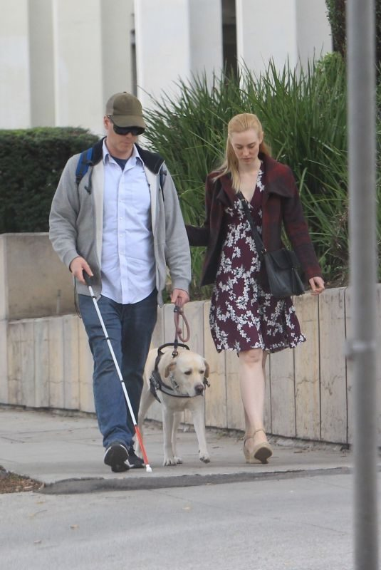 DEBORAH ANN WOLL and E.J. Scott Out Shopping in Beverly Hills 12/14/2018