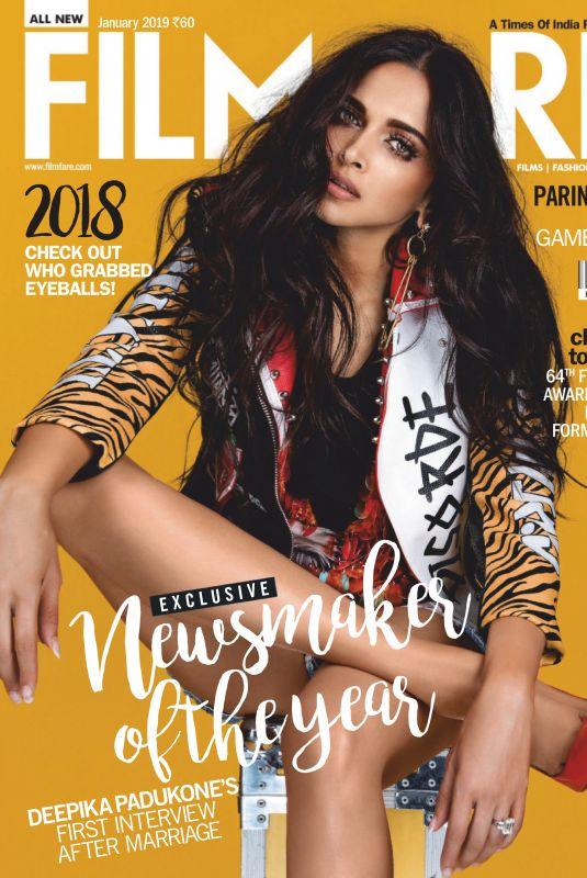 DEEPIKA PADUKONE in Filmfare Magazine, January 2019