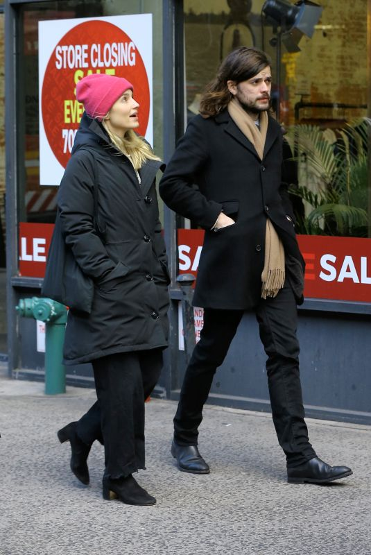 DIANNA AGRON and Winston Marshall Out in New York 12/29/2018