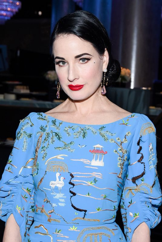 DITA VON TEESE at American Ballet Theatre's Holiday Benefit in Beverly Hills 12/17/2018