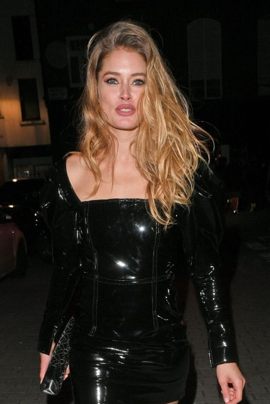 DOUTZEN KROES Arrives at British Fashion Awards Party in London 12/10/2018