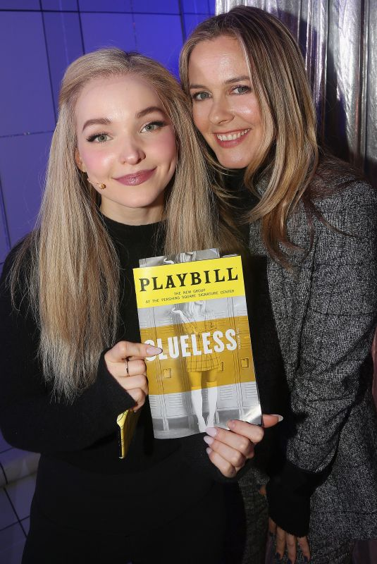 DOVE CAMERON and ALICIA SILVERSTONE at Clueless: The Musical in New York 12/18/2018