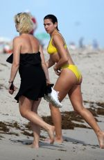 DUA LIPA in Bikini at a Beach in Miami 12/31/2018