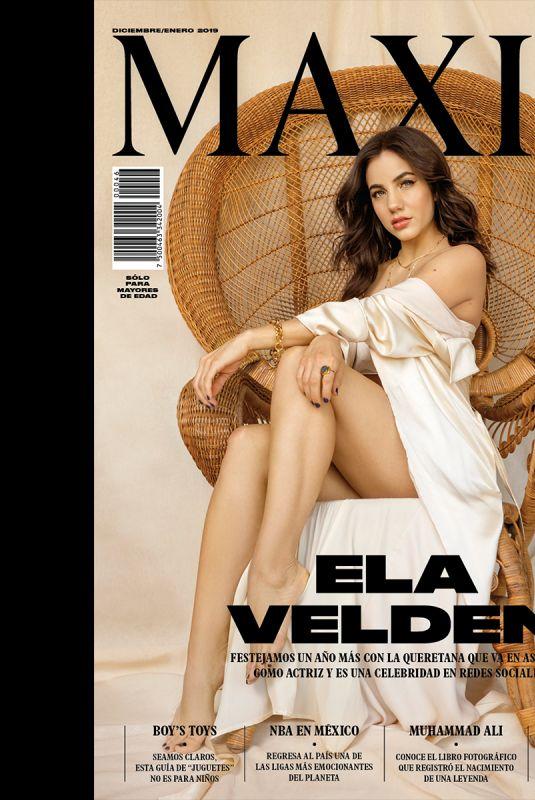 ELA VALDEN in Maxim Magazine, Mexico December 2018/January 2019