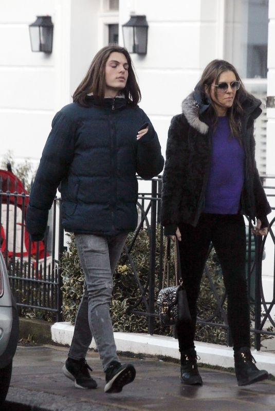 ELIZABETH and Damian HURLEY Out in London 12/17/2018