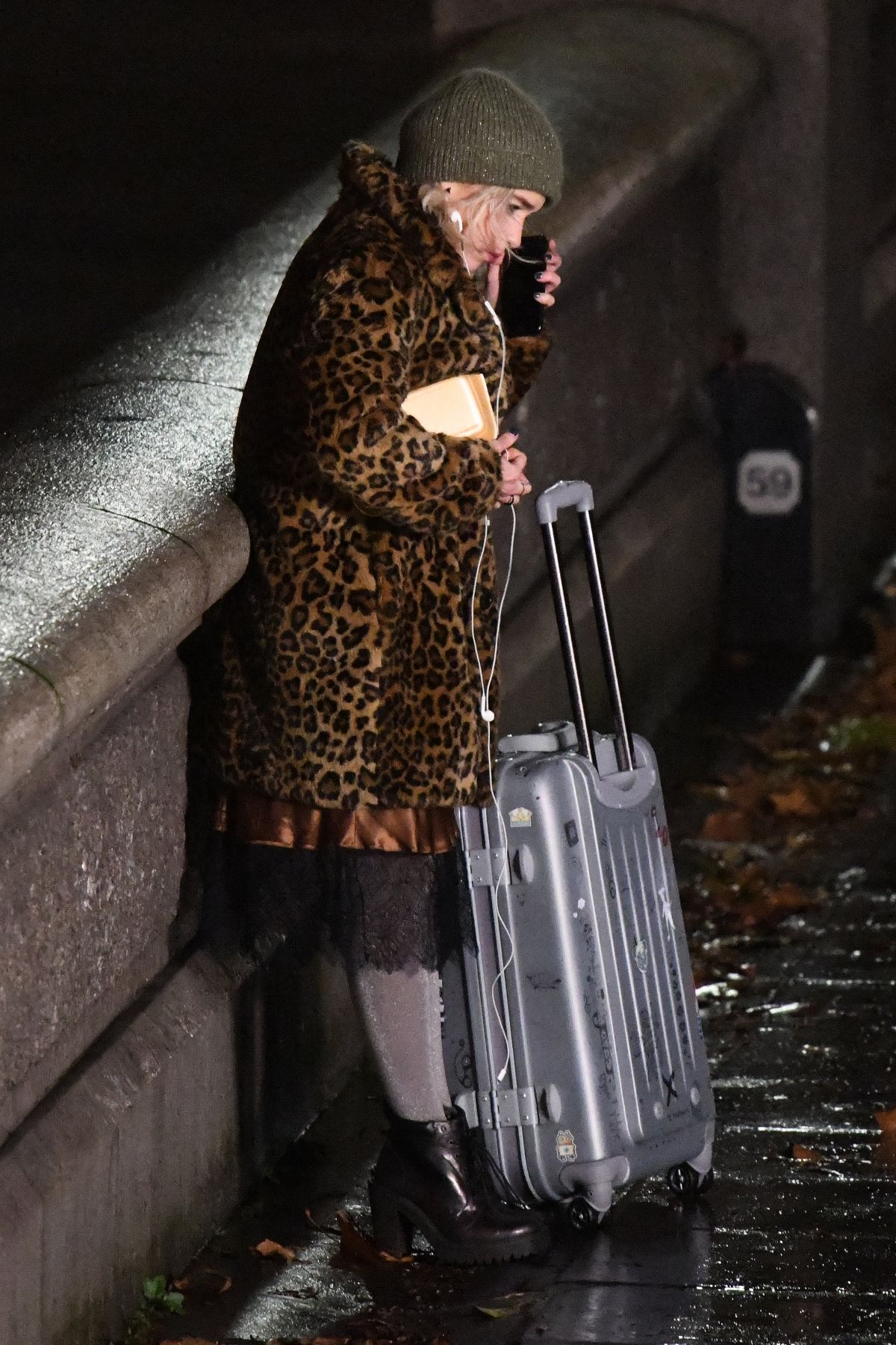 EMILIA CLARKE on the Set of Last Christmas in London 11/28/2018