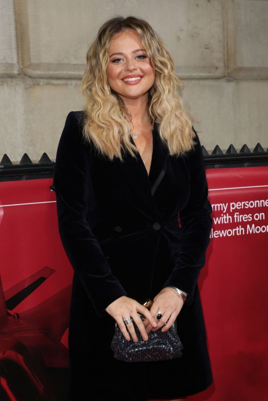EMILY ATACK at The Sun Military Awards in London 12/13/2018