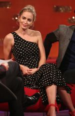 EMILY BLUNT at Graham Norton Show in London 12/19/2018