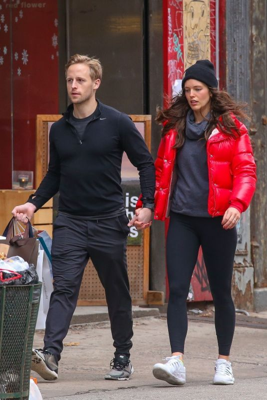 EMILY DIDONATO and Kyle Peterson Out Shopping in New York 12/22/2018