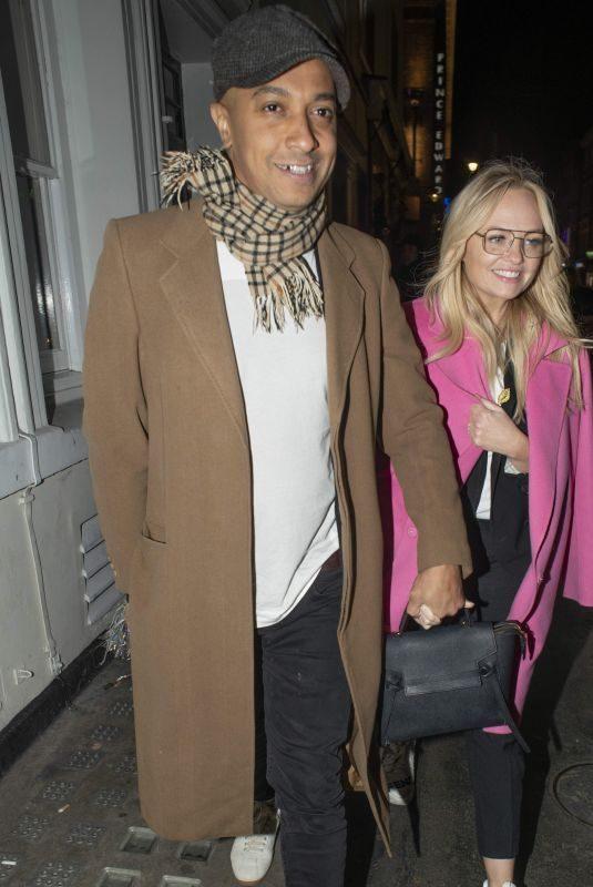 EMMA BUNTON Leaves Soho House in London 12/15/2018
