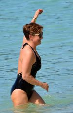 EMMA FORBES in Swimsuit at a Beach in Barbados 12/20/2018
