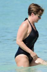 EMMA FORBES in Swimsuit on Holiday in Barbados 12/24/2018
