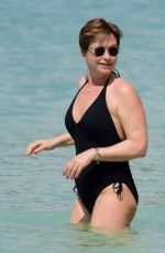EMMA FORBES in Swimsuit on the Beach in Barbados 12/27/2018